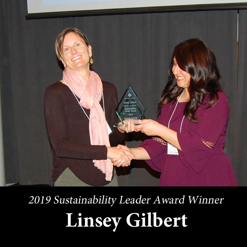 sustainability Leadership Award - Linsey Gilbert, Winner